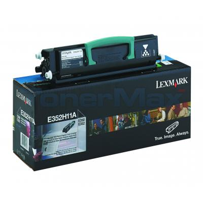 LEXMARK E352 TONER CARTRIDGE BLACK RP 9K